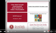 image of the video playback of our professional development cyber-walk