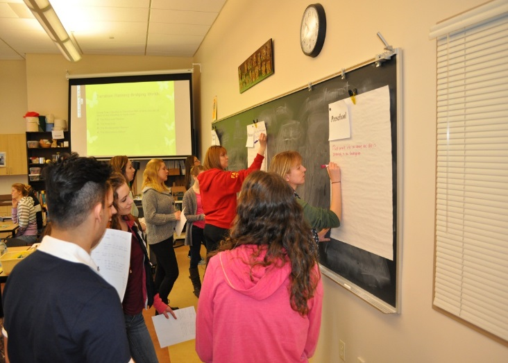 The gallery walk allows students to see what others are thinking about the case and respond to other students ideas.