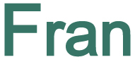 Graphical image of the name Fran
