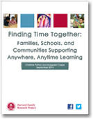 Finding Time Together: Families, Schools, and Communities Supporting Anywhere, Anytime Learning publication cover