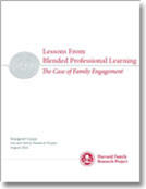 Lessons Learned From Blended Professional Learning: The Case of Family Engagement publication cover